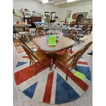 View Product - BROOKS PEDESTAL TABLE & CHAIRS