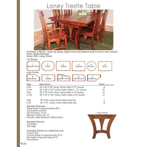 Door County Furniture - Laney Trestle Table