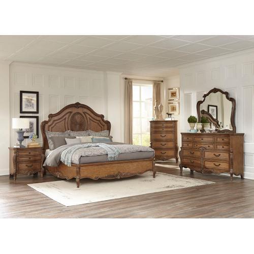 Moorewood Park Qn Bed, Dresser, Mirror and Nightstand