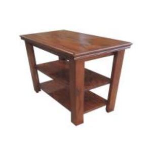AV2424 Burnished Oak Chairside Table