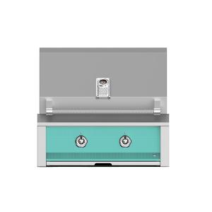 """Hestan - Aspire By Hestan 30"""" Built-In U-Burner and Sear Grill NG Turquoise"""