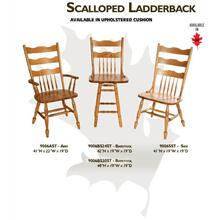 Scalloped Ladderback Chair