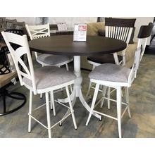"ID:225249 42"" High table and four different stools"