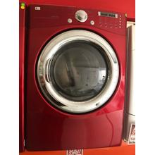 Used Front Load Red Electric Dryer with 9 Drying Programs
