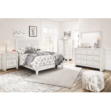 Paxberry- Whitewash- Dresser, Mirror, Chest, Nightstand & Full Panel Bed