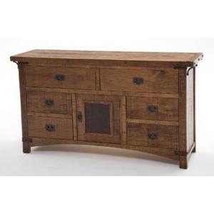 Bungalow 6 Drawer 1 Door Dresser