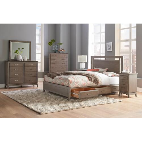 WHITTIER WOOD 1 Queen Bed, 1 6 Drawer Chest and 1 Night Stand