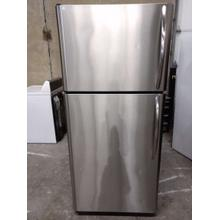 Stainless Frigidaire Top Mount Refrigerator (This may be a Stock Photo, actual unit (s) appearance may contain cosmetic blemishes. Please call store if you would like additional pictures). This unit carries our 6 Month warranty, MANUFACTURER WARRANTY and REBATE NOT VALID with this item. ISI 37510 B