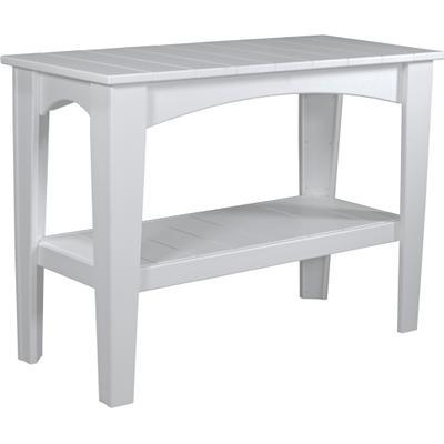 Island Buffet Table White