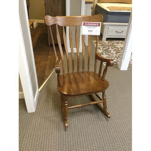 "Tennessee Enterprises ""Boston Country"" Medium Oak 5804 Rocking Chair 25""W-20""D-42""H"