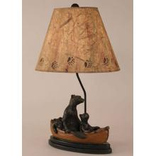 Bear Family In Canoe Table Lamp