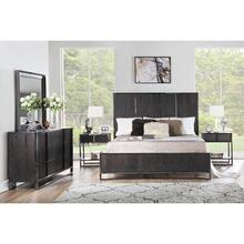 City Scape Dark Ceruse Queen Bedroom Group: Queen Bed, Nightstand, Dresser & Mirror