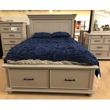 See Details - Slater Queen Platform Storage Bedroom - Bed, Dresser, Mirror - Gray