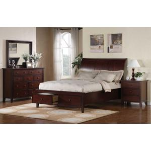 Vintage Cherry Cal-King Sleigh Bed