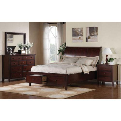 Product Image - Vintage Cherry Cal-King Sleigh Bed