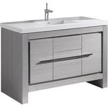 "Product Image - Vicenza 60"" Single Bowl Vanity in Ash Grey"