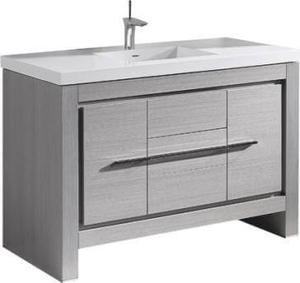 "Vicenza 60"" Single Bowl Vanity in Ash Grey Product Image"