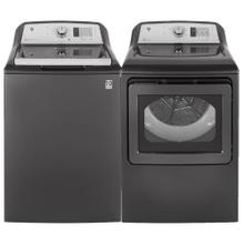 See Details - GE 4.6 cu. ft. Top Load Washer  & 7.4 cu. ft. Electric Dryer w/ Sanitize Cycle and Sensor Dry- Open Box
