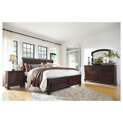 Porter Queen Storage Bed, Dresser, Mirror and Nightstand