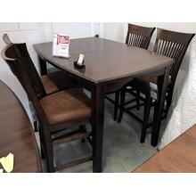 ID:121849 High table and 4 stools. 36x48x60