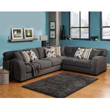 See Details - Wesley 3Pc Sectional - Charcoal