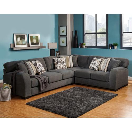 Gallery - Wesley 3Pc Sectional - Charcoal