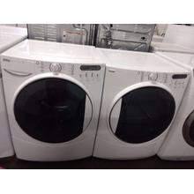 Refurbished White Kenmore Elite White Front Load Washer Dryer Set . Please call store if you would like additional pictures. This set carries our 6 month warranty, MANUFACTURER WARRANTY AND REBATES ARE NOT VALID (Sold only as a set)