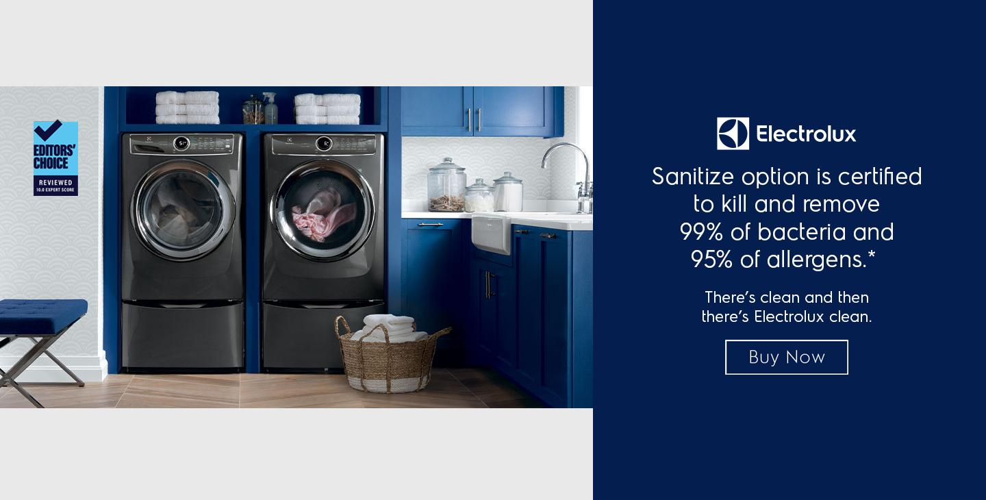 Electrolux Laundry with Sanitize Option Evergreen 2021