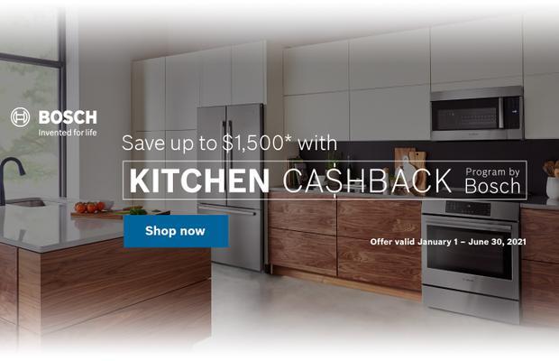 Bosch Kitchen Package Rebate Jan 2021
