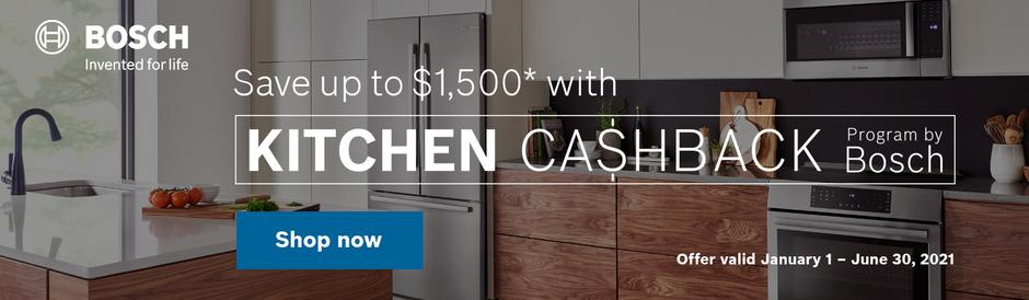 Bosch Kitchen Package Rebate Jan 2021