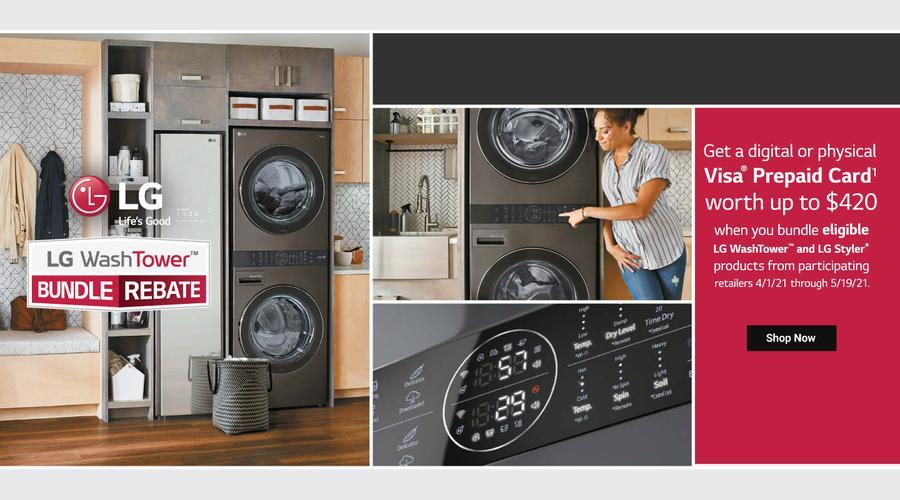 LG WashTower Black Bundle April-May 2021