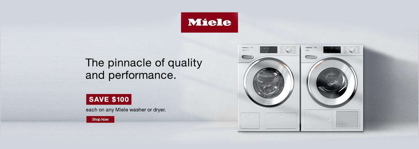 Miele $100 Laundry Rebate Aug 2020