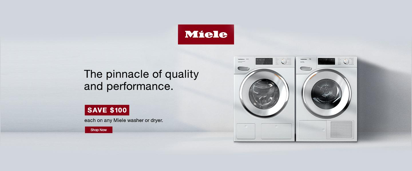 Miele $100 Laundry Rebate Aug 2020