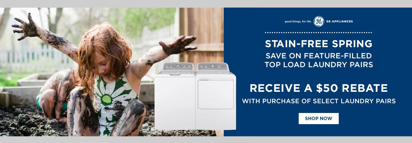 GE Appliances $50 Stain Free Spring April 2021