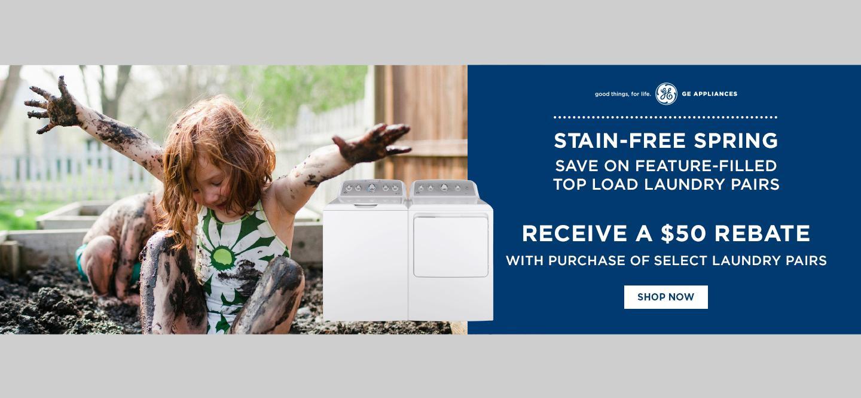 GE Appliances $50 Stain Free Spring April 2021
