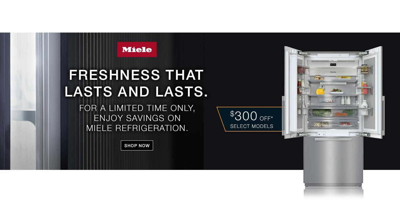 Miele $300 Refrigerator Rebate April-June 2021