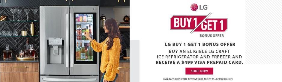 LG Buy 1 Get 1 Aug-Oct 2021