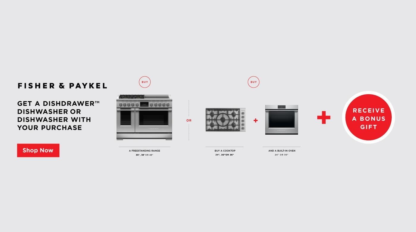 Fisher & Paykel DishDrawer Dishwasher Bonus Gift Jan-June 2021