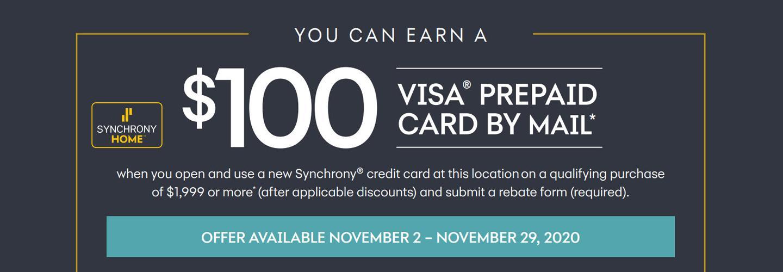 Synchrony Rebate Nov 2020