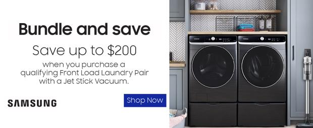 Samsung Laundry Bundle and Save July-Aug 2021