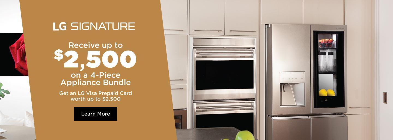LG SIGNATURE Appliance Bundle April-Oct 2021