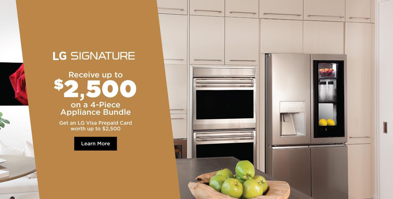LG SIGNATURE Appliance Bundle April-July 2021