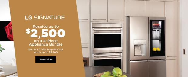 LG SIGNATURE Appliance Bundle April-July 2021