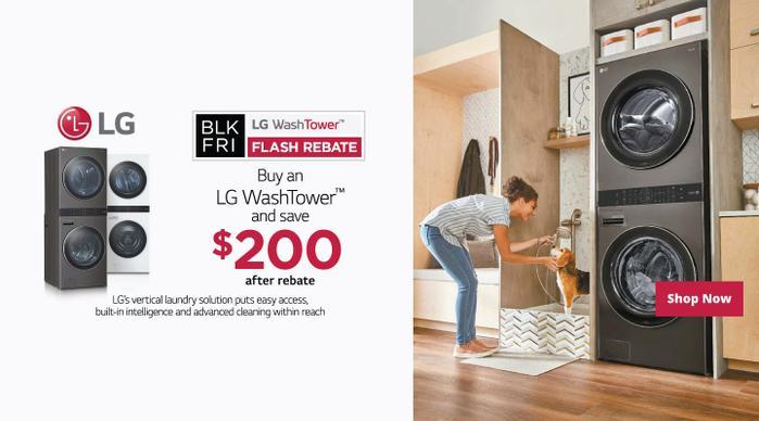 LG WashTower Black Friday Flash Rebate 2020