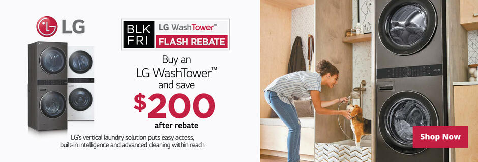 LG WashTower Black Friday Flash Rebate 2020