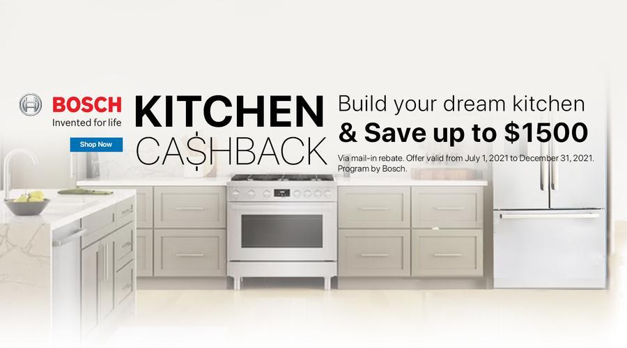 Bosch Kitchen Package Rebate July-Dec 2021