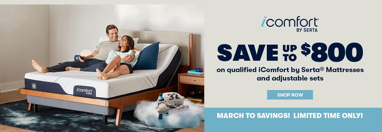 Serta iComfort March into Savings 2021