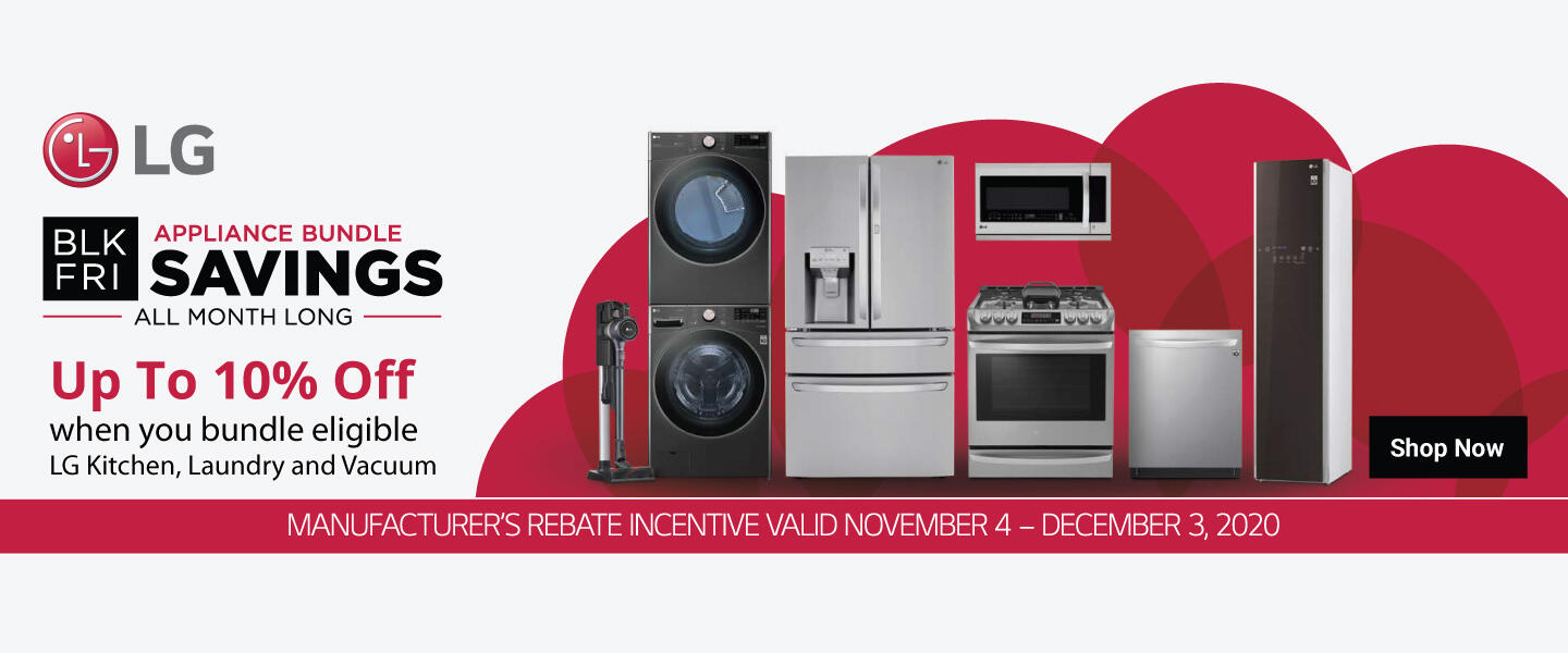 LG Black Friday Appliance Bundle 2020