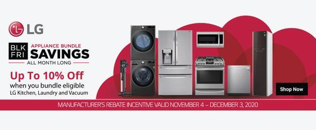 LG Black Friday Appliance Bundle 2020