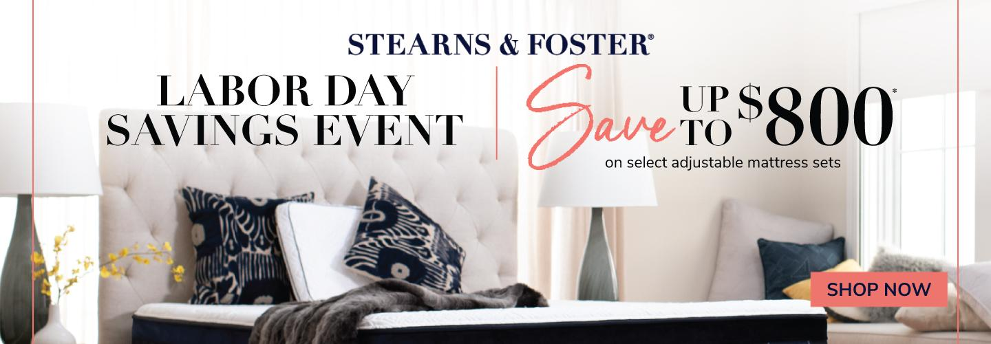 Stearns & Foster Labor Day 2020